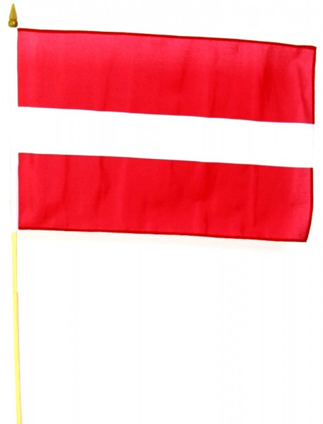 Lettland Stockfahne 30cm x 45cm