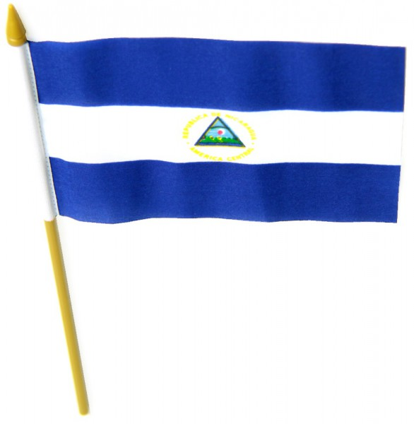 Nicaragua Tischfahne 10x15cm