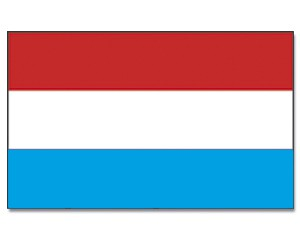 Luxemburg Stockfahne 30cm x 45cm