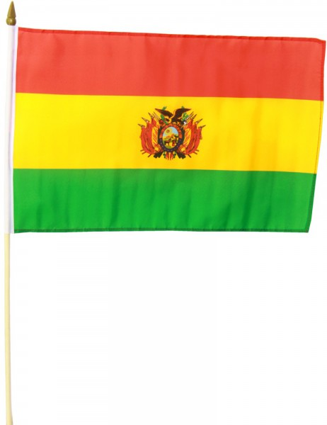 Bolivien Stockfahne 30cm x 45 cm