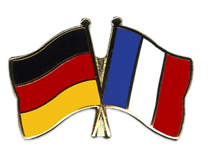 Deutschland-Frankreich Freundschaftspin Flaggenpin