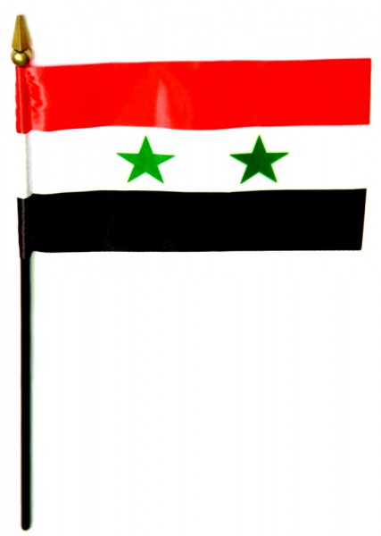 Syrien Tischfahne 10x15cm
