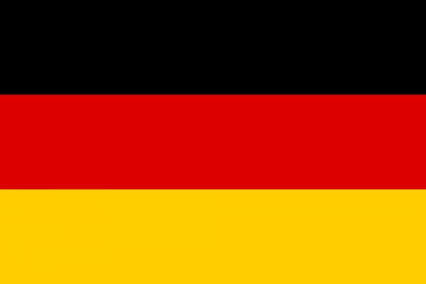 Deutschland Hohlsaumflagge 60x90 cm mit Adler