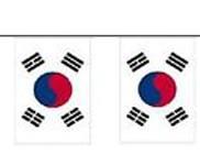 Südkorea Länderkette 3 m - 10 Flaggen á 15x22,5cm