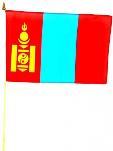 Mongolei Stockfahne 30cm x 45 cm