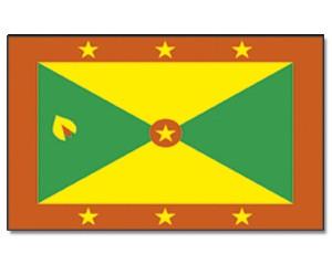 Grenada Stockfahne 30cm x 45 cm