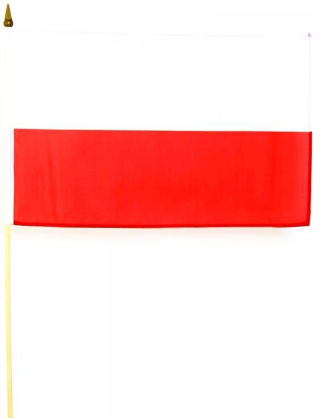 Polen Stockfahne 30cm x 45cm