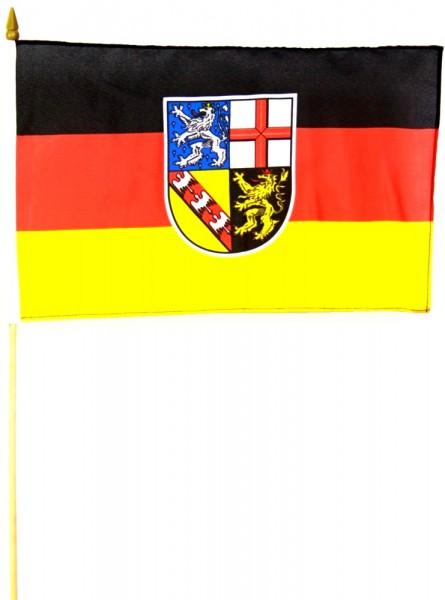Saarland Stockfahne 30cm x 45cm